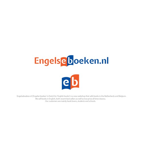 logo concept english book webshop