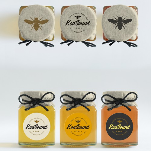 Logo and packaging design for an urban honey producer