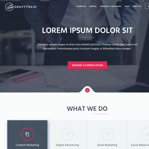 Website for a digital marketing agency