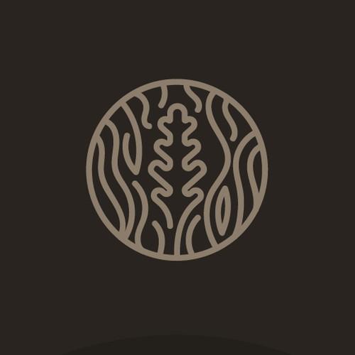 Hardwood growth white oak logo