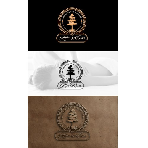 A celtic design for Therapeutic massage company Ailm & Esse