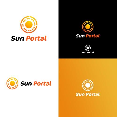 concept logo for sun portal