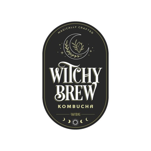 Logo for Witchy Brew Kombucha