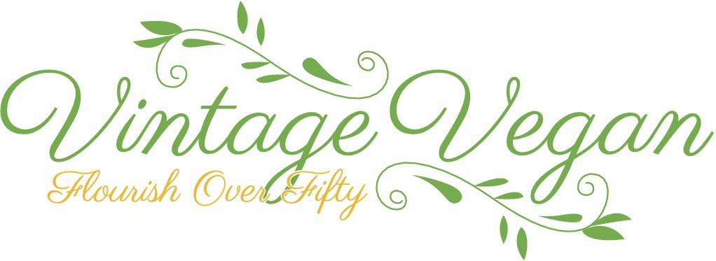 Create a memorable logo for my 'vintage vegan' blog!