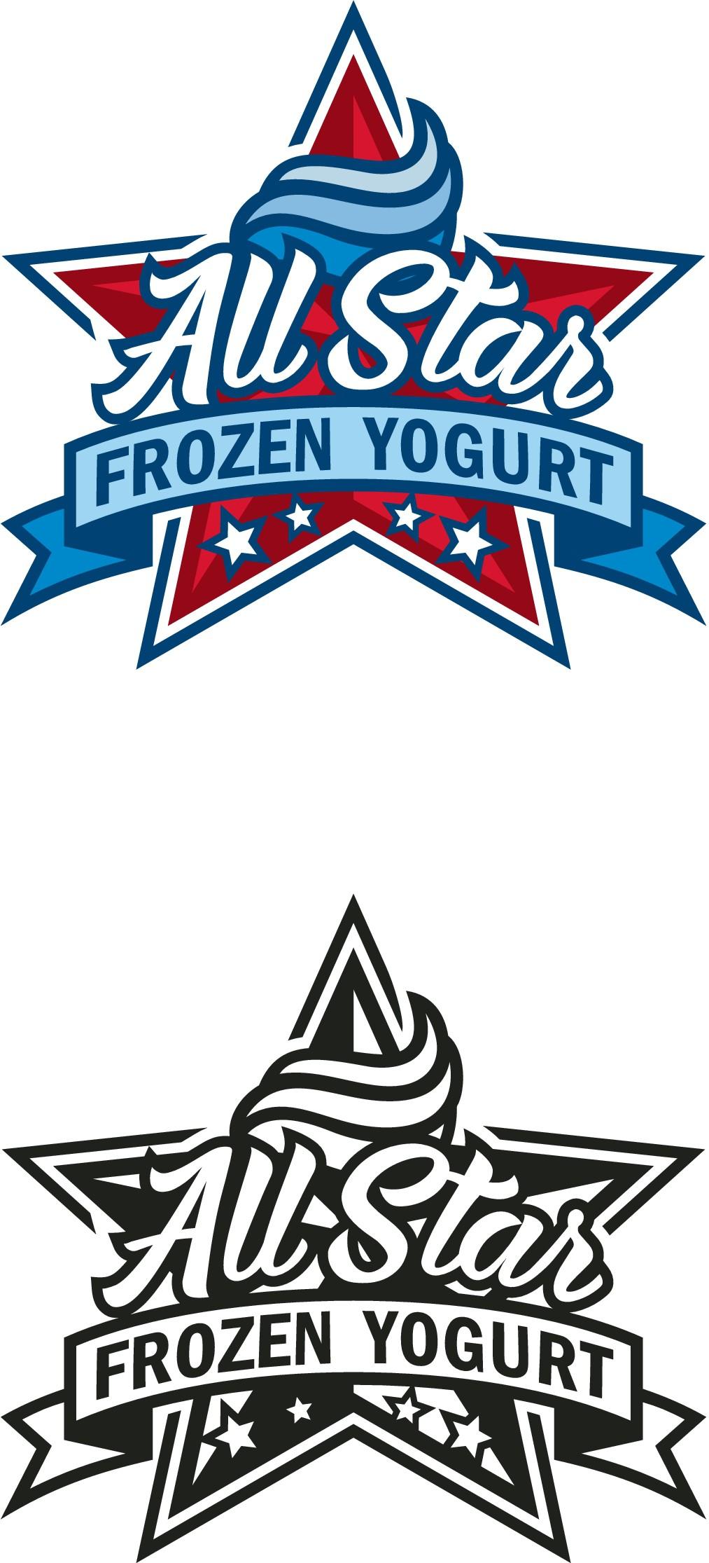 Design a winning logo for All Star Frozen Yogurt