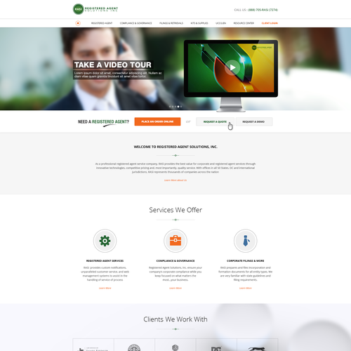Web page design for a Law Firm