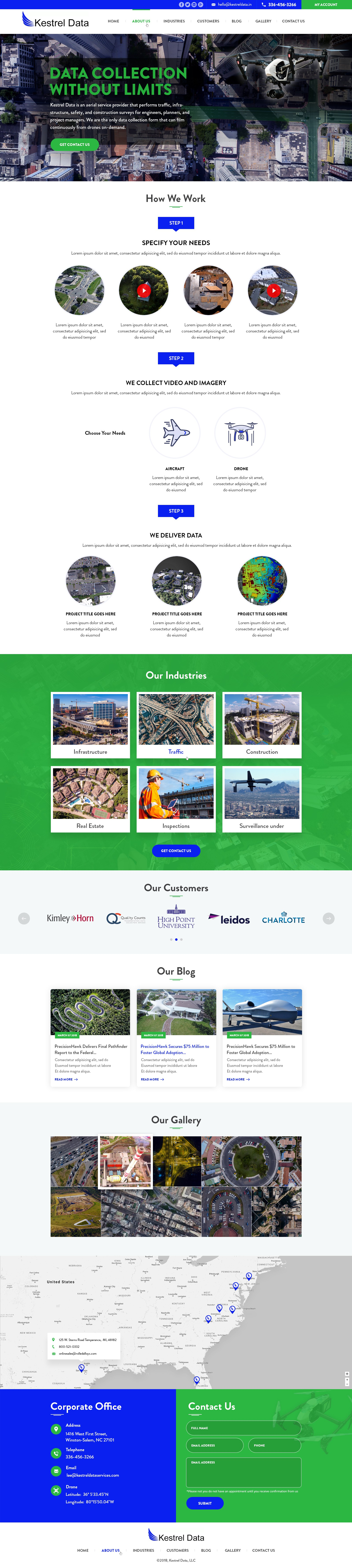 Aerial Data Collection Service Needs Everything, Starting with Website