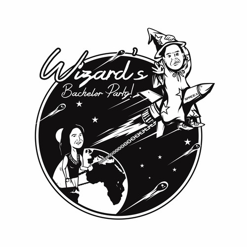 Wizard's Bachelor Party t-shirt design