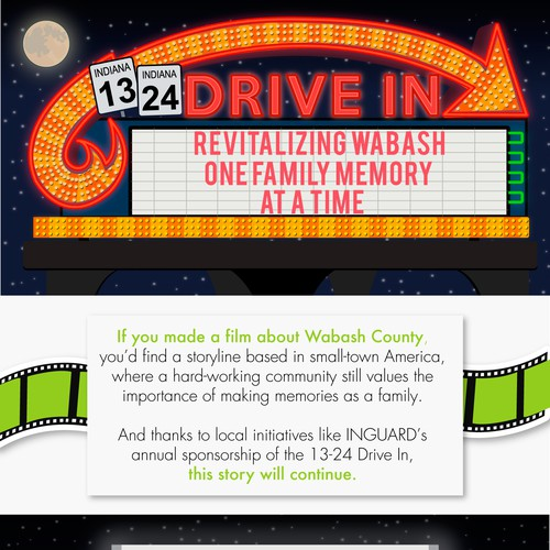 Infographic for Drive in Cinema
