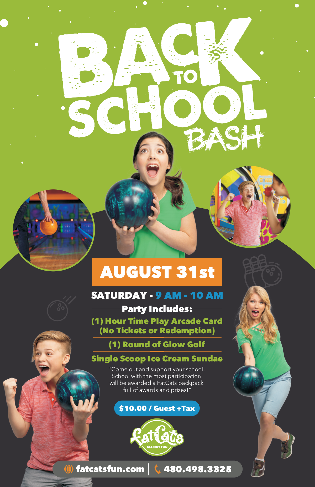 Back to School Event Flyer and Digital