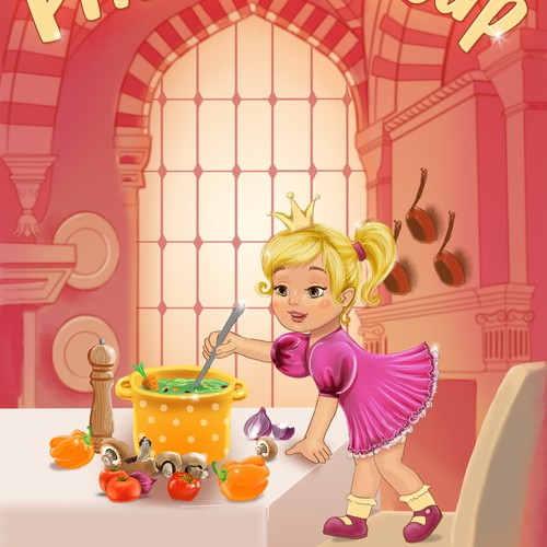 """Princess Soup"" children's book cover design"