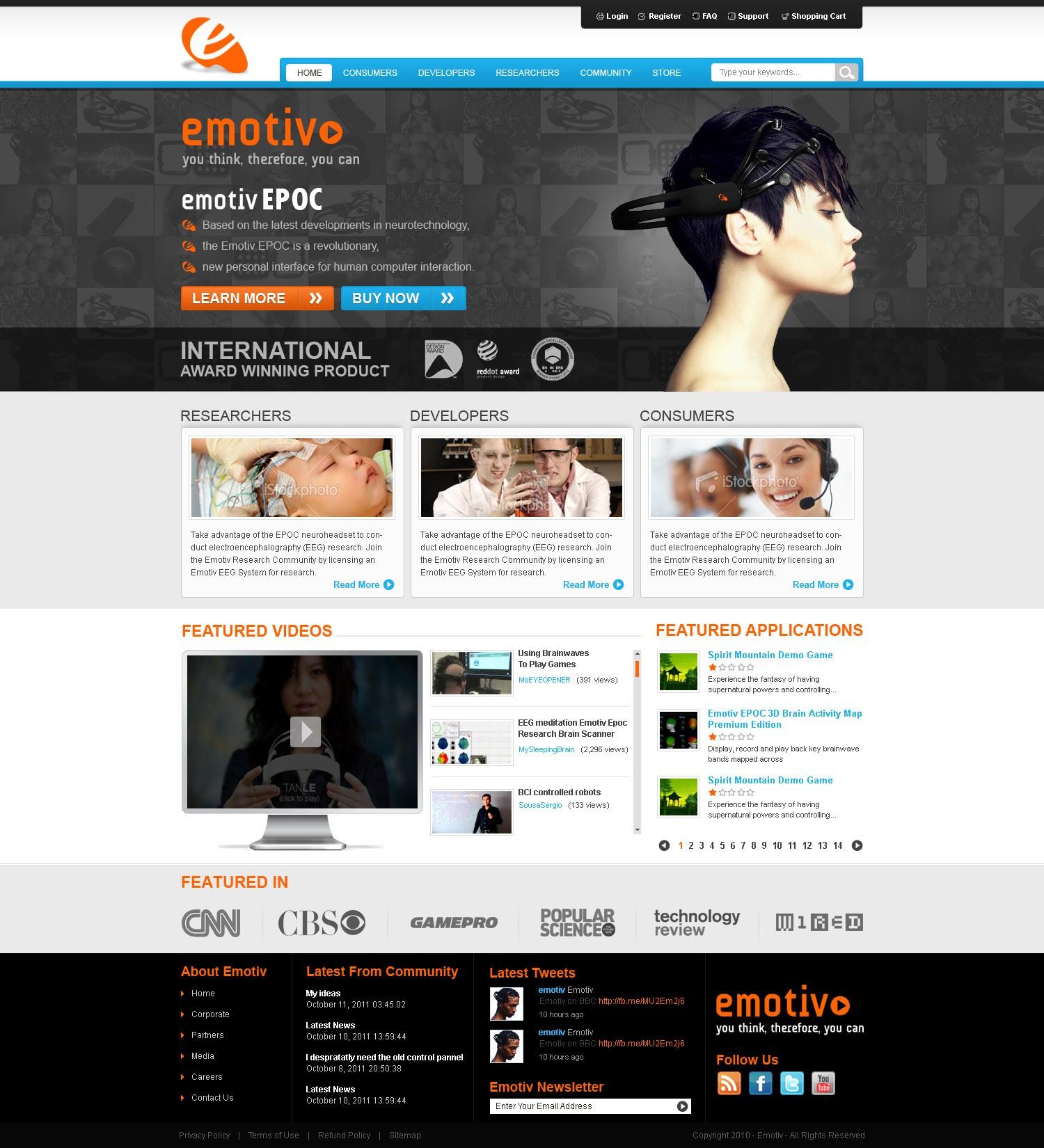 Create the new website for an International Award Winning technology company
