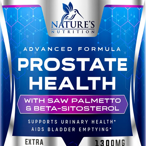 Nature's Nutrition needs a Men's Prostate Health product label
