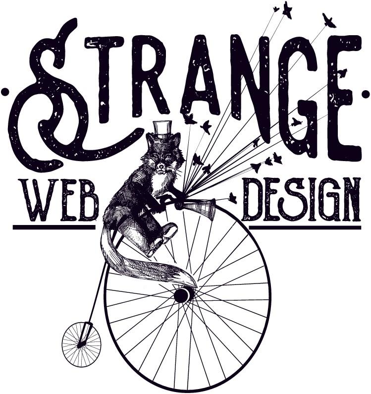 Colorful or Hipster Snarky Design For Strange Web Design