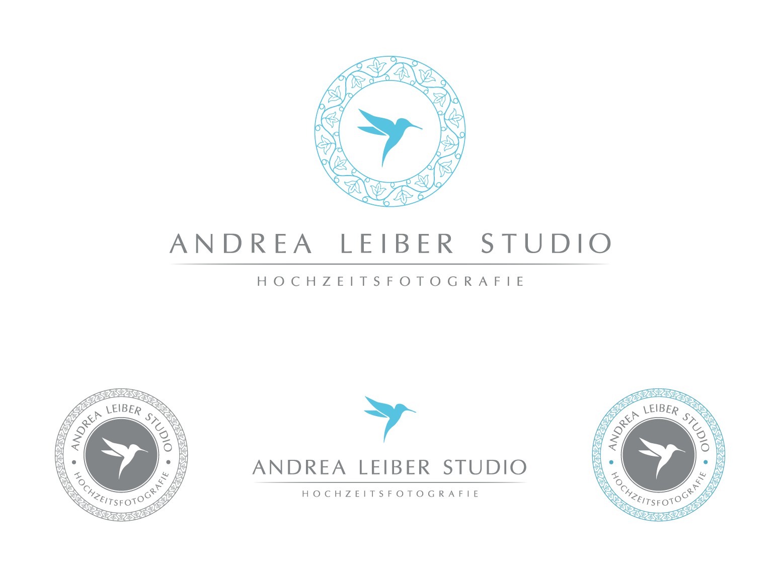 Create an elegant logo and business card for my high fashion and wedding photo studio