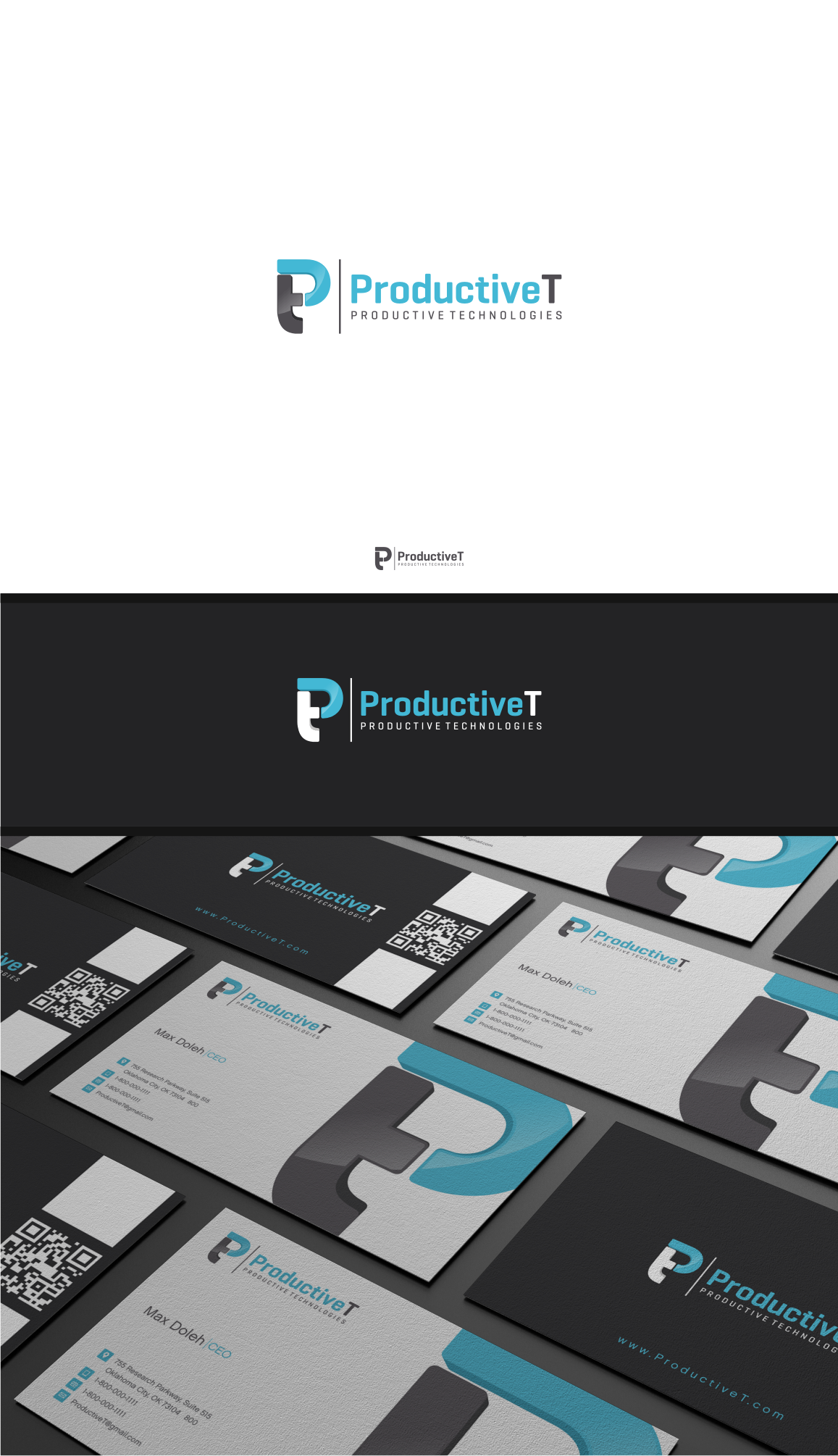 Create logo and business card for Productive Technologies
