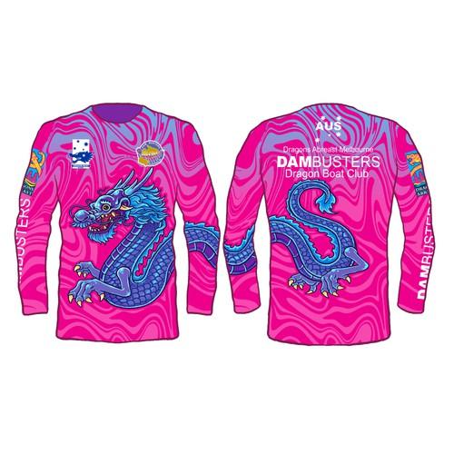 Vibrant jersey design for Australian dragon boat team