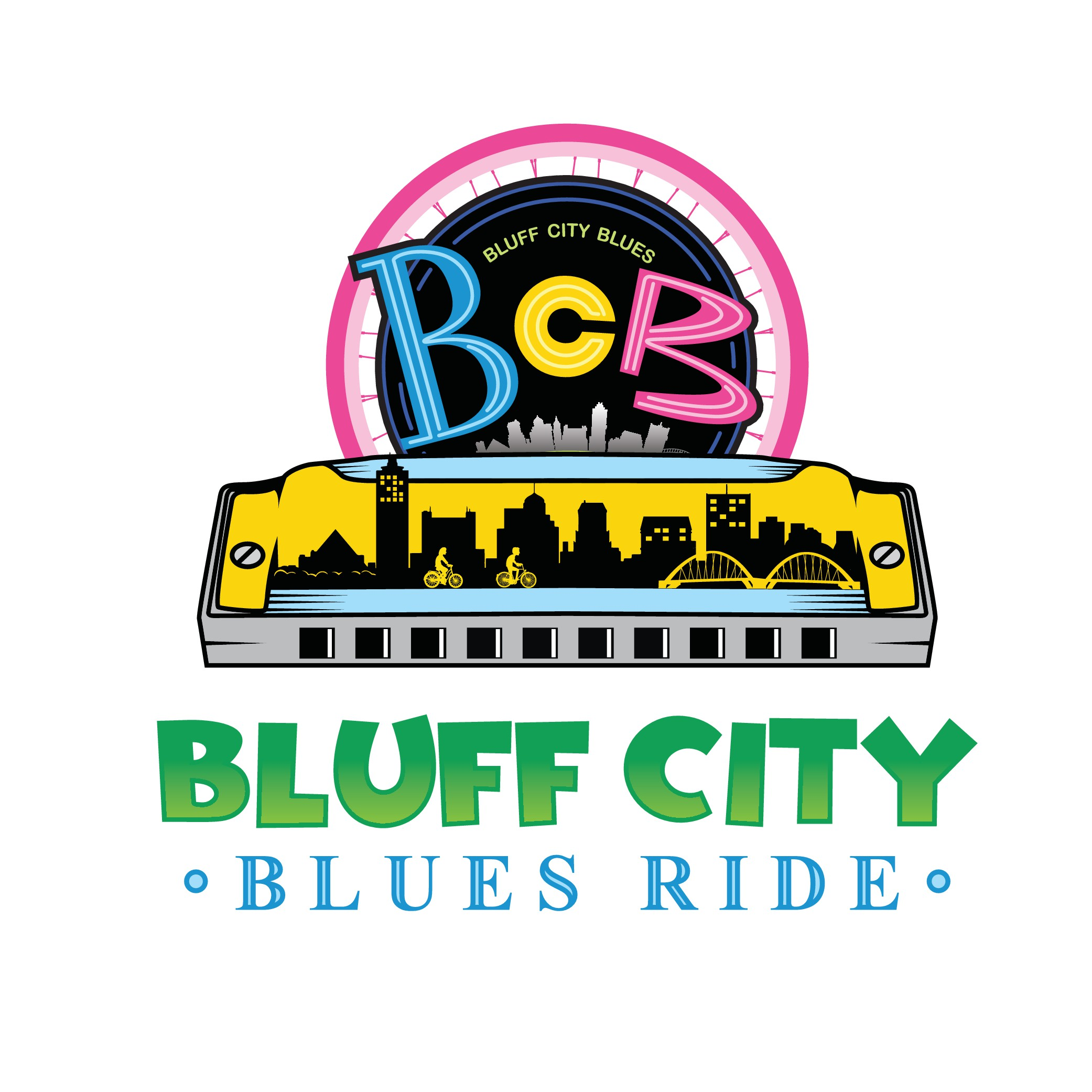 Hurry!!  Harmonica and bicycle  themed logo attract participants.
