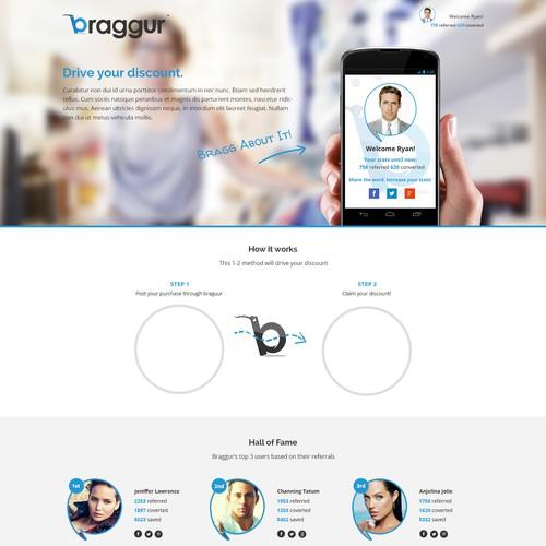 [Braggur] Create a buzzy Landing Page