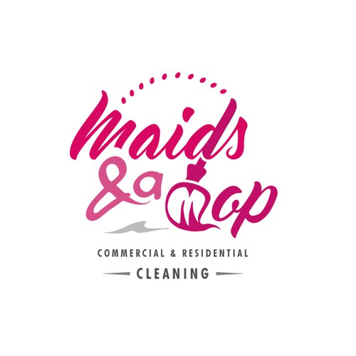 Logo for cleaning service