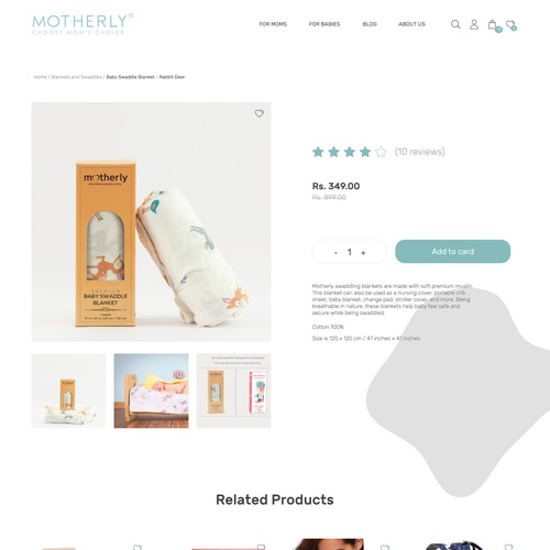 Product page for Motherly company