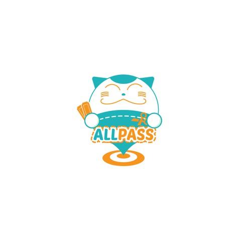 "logo concept for ""Allpass""- local online shopping"