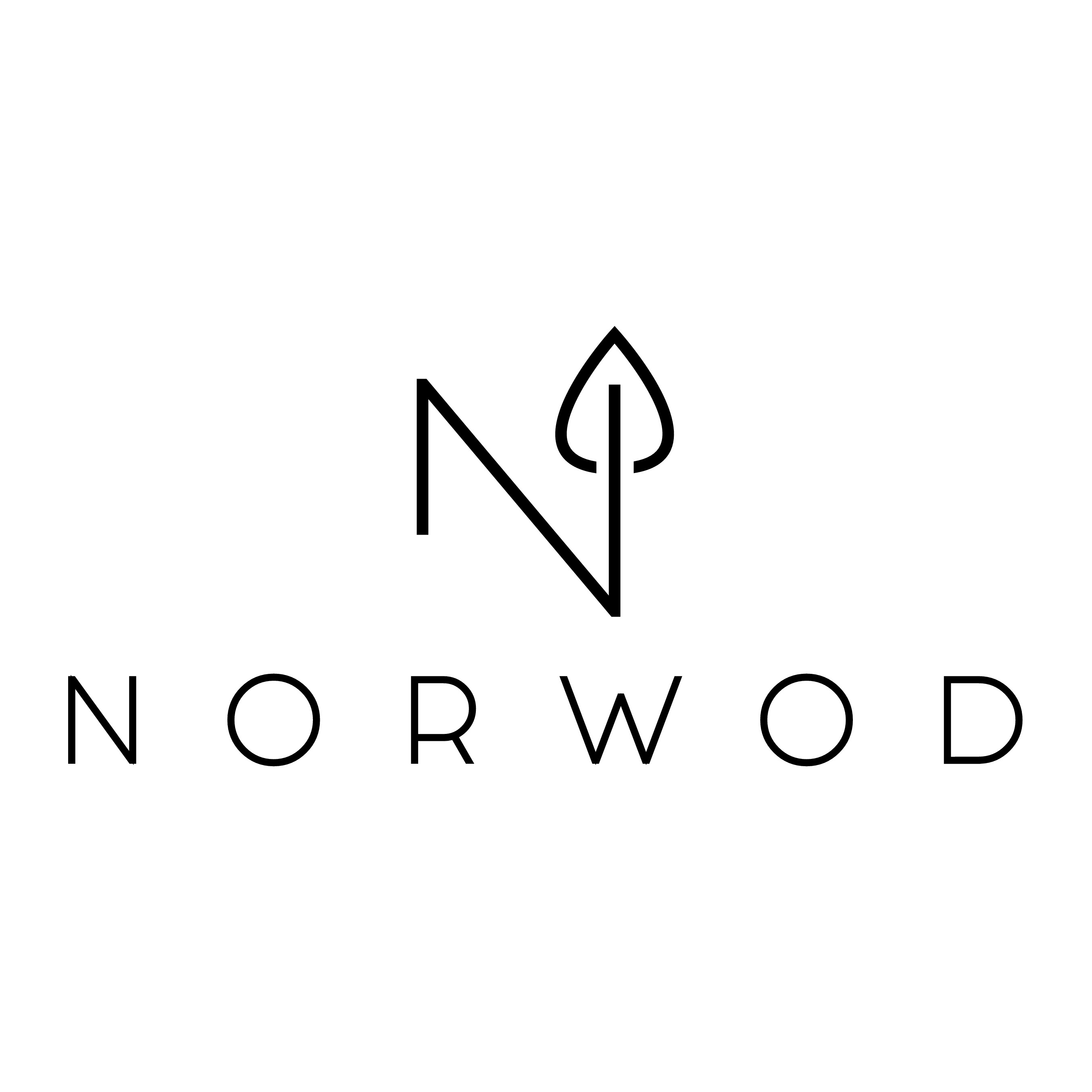 Logo for NORWOD: Nordic, purist, natural