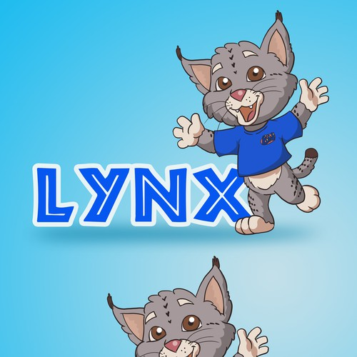lynx mascot design 02