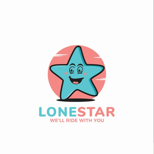 cute character star logo