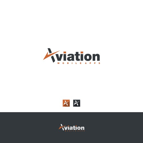 New aviation mobile apps consulting business needs logo & branding.
