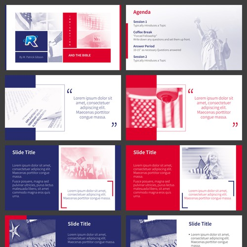 A Duotone Presentation Template on Immigration