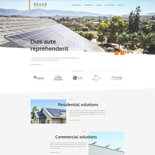 Web design for solar energy company