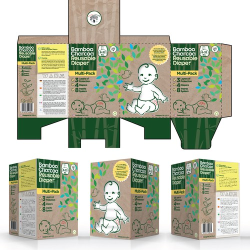 Create Eco-Friendly Packaging for reusable diapers