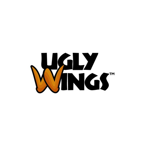 Bold logo for Ugly Wings.