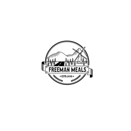 Logo concept for Freeman Meals