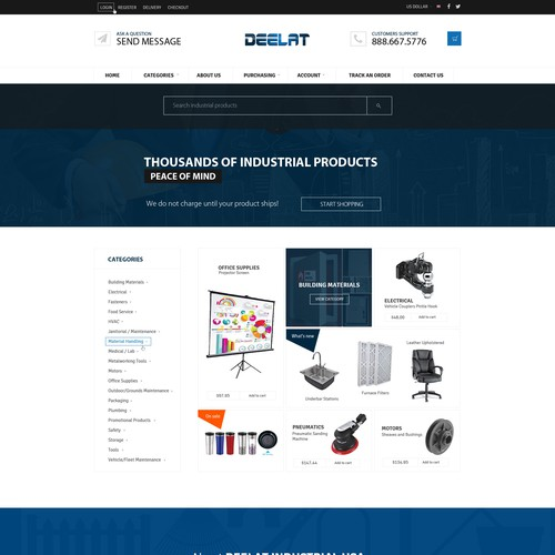 Deelat Industrial Needs a Responsive Design