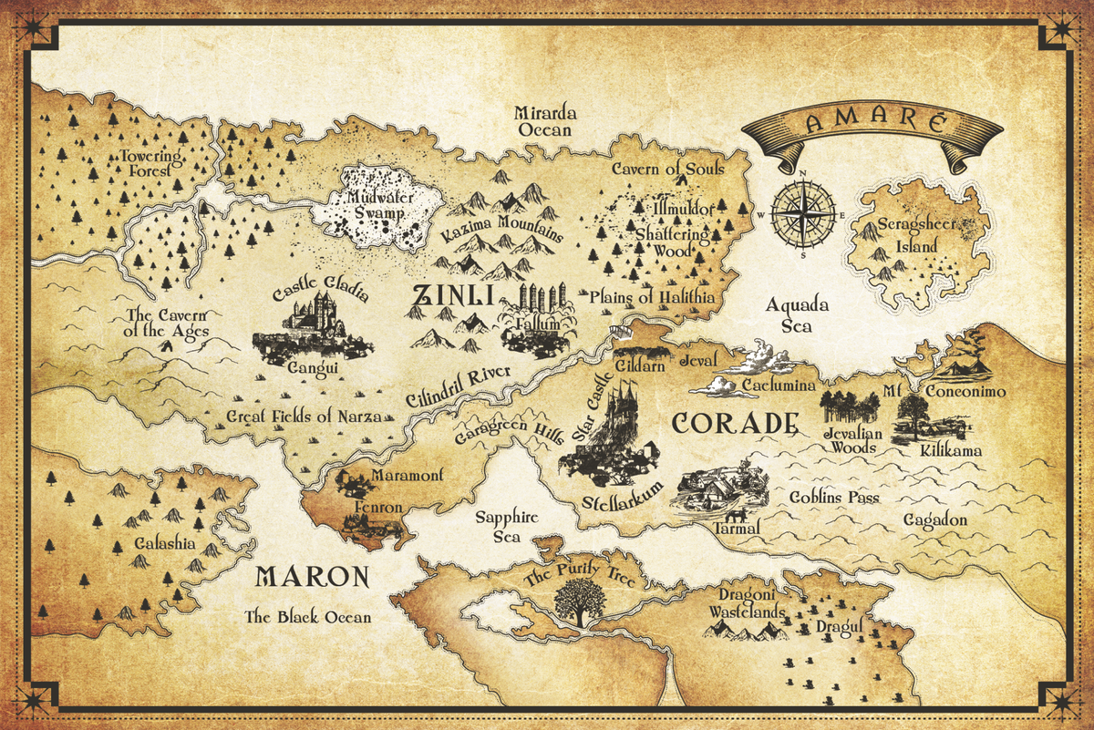Map update for book interior