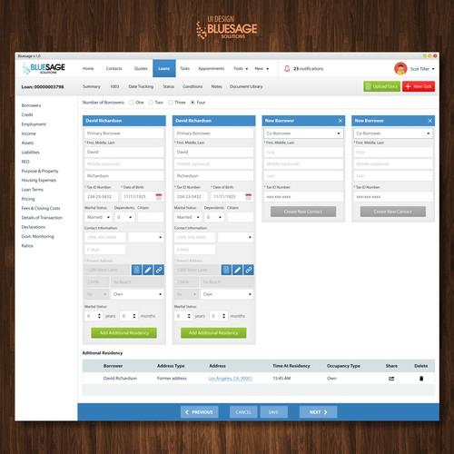 Desktop app UI design