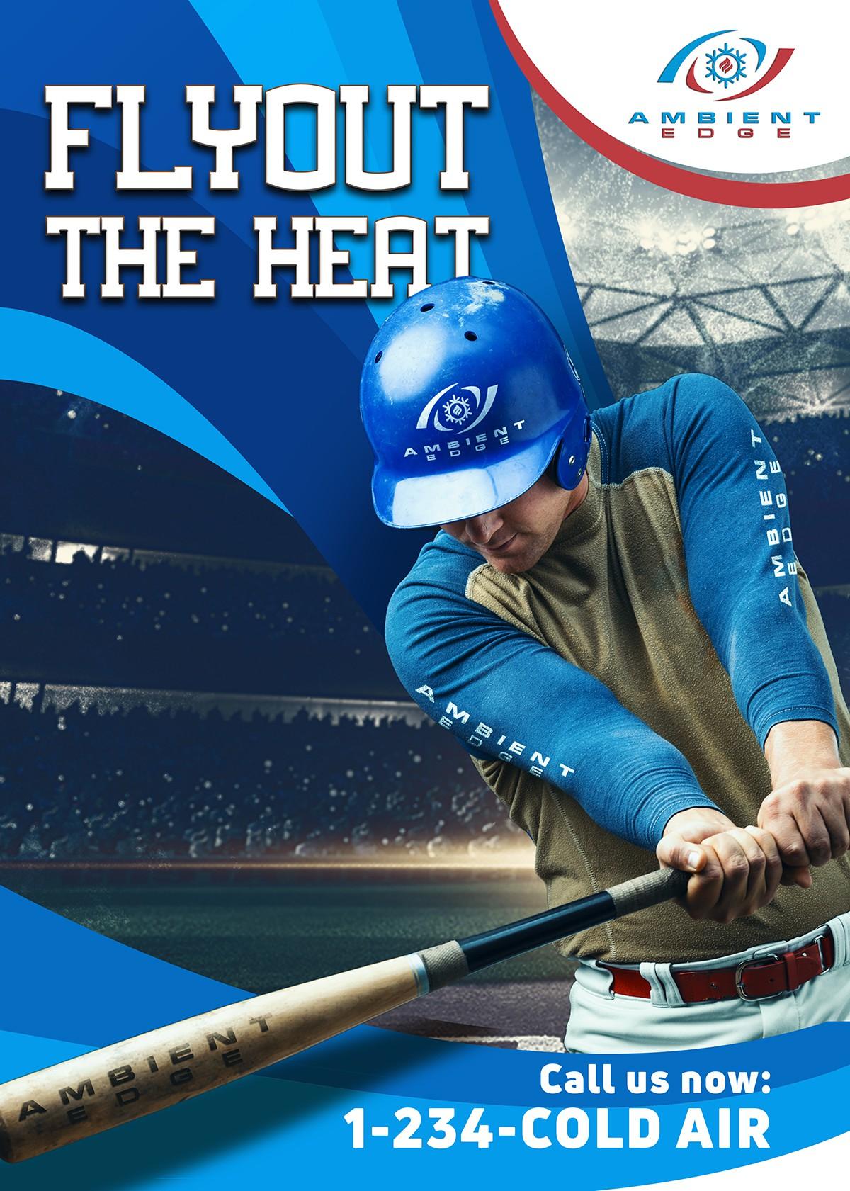 Signage for HVAC Sponsorship in AAA Baseball Stadium