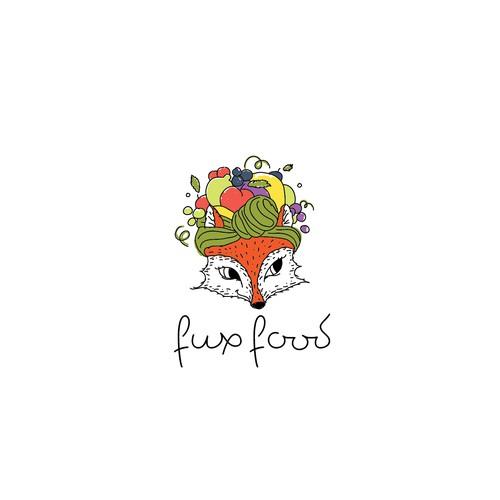 Fun fox character for food blog