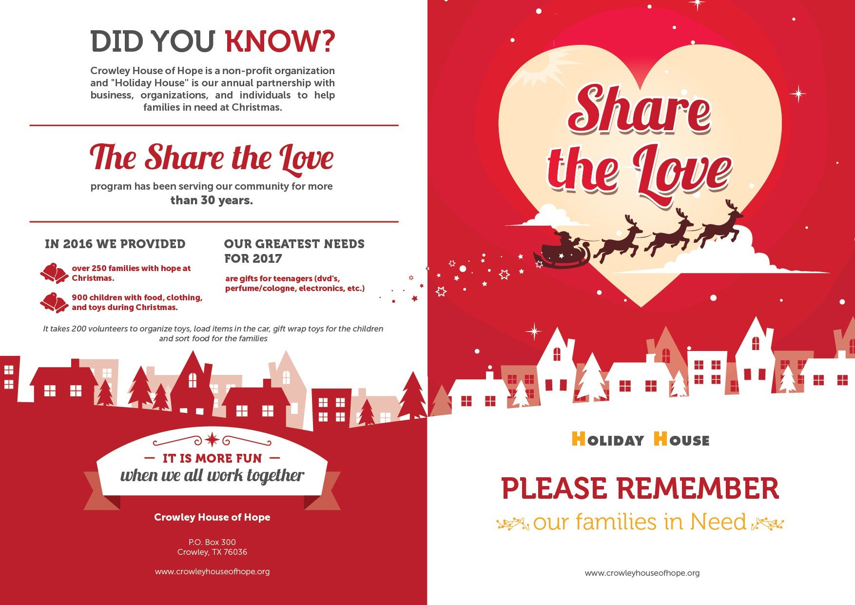 Crowley House of Hope Christmas Brochure 2017