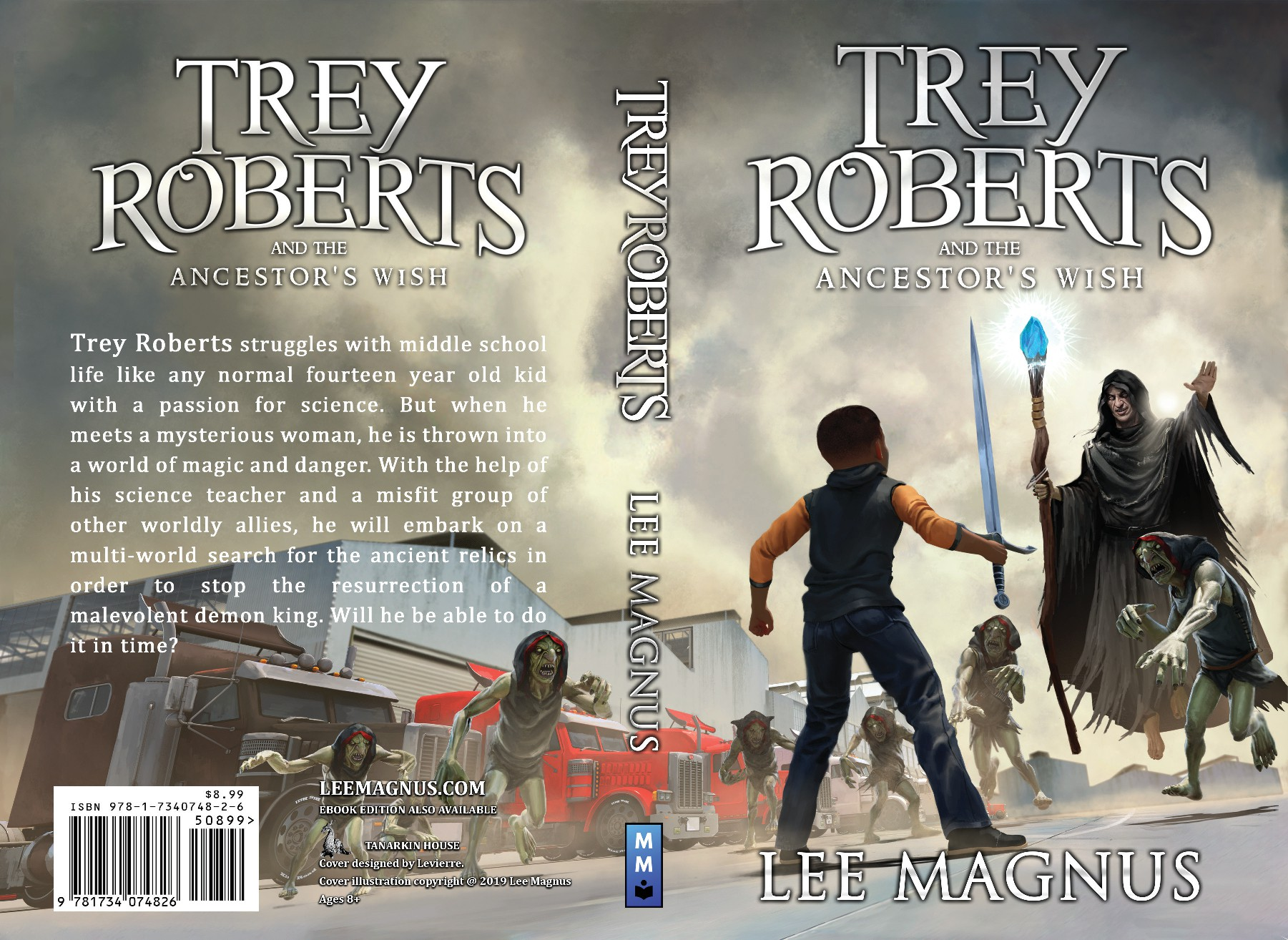 Fantasy Fiction book cover - dragons, wizards, monsters, swords and fire