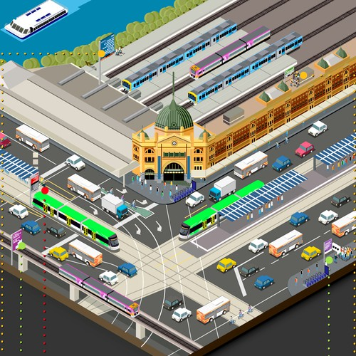 Infographic for Public Transport in Victoria Australia