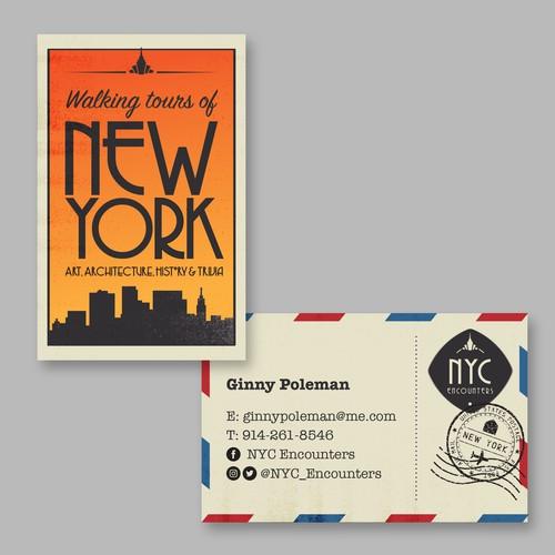Retro vintage business card & logo
