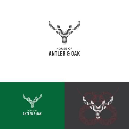 Antler and oak