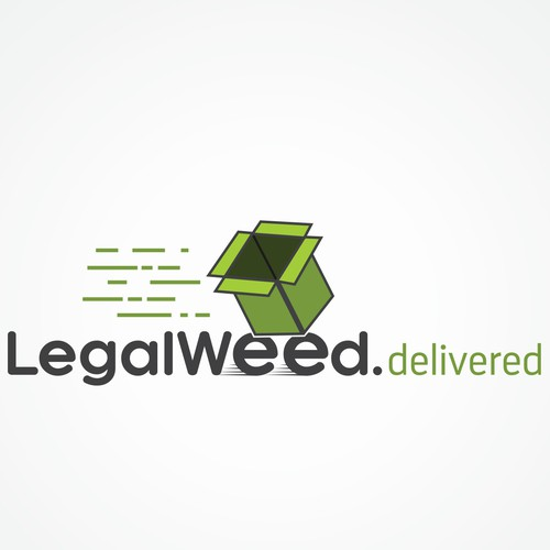 Logo design concept for a weed delivering comany