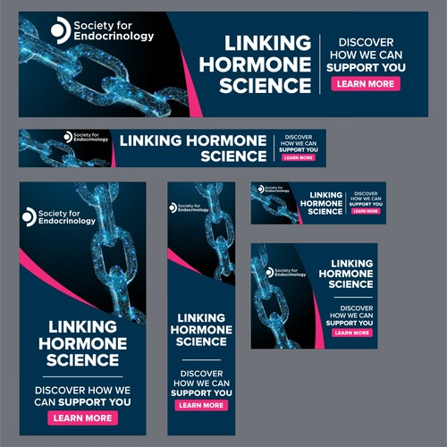 Abstract and creative design for research science focused web banner ads