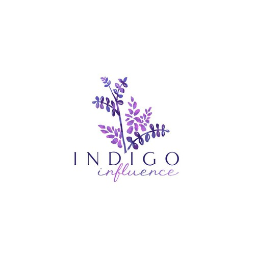 Logo concept based on the indigo plant