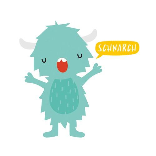 Schnarch yeti character design
