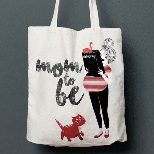 Tote Bag design for pregnant mums